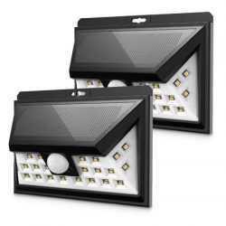 4 БРОЯ LED соларен прожектор със сензор на едро 9