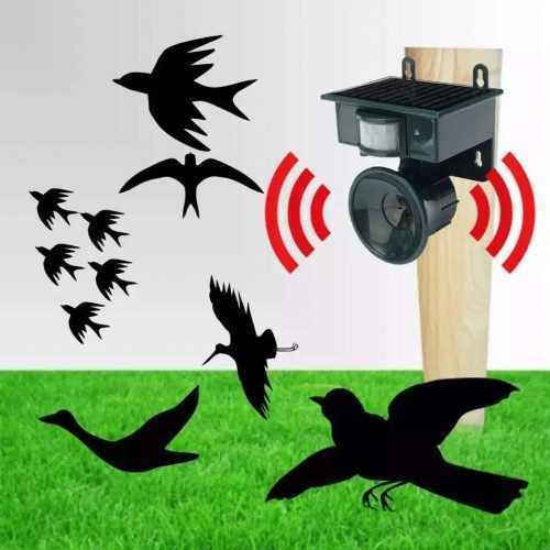 Ултразвуков соларен уред против птици на едро и дребно 8