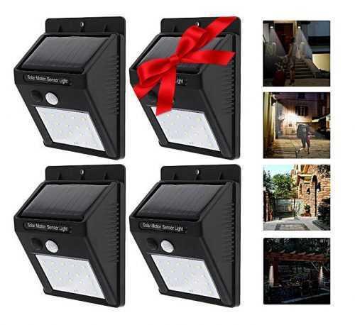 Промо: 3+1 подарък 30 LED Соларна лампа за стена 3