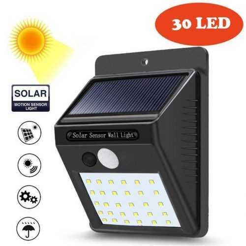 Промо: 3+1 подарък 30 LED Соларна лампа за стена 4