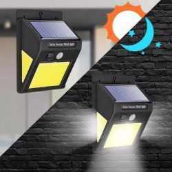 3+1 подарък 60 LED Соларна Лампа с Датчик за Движение 9