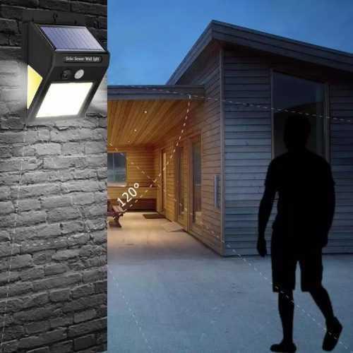 3+1 подарък 60 LED Соларна Лампа с Датчик за Движение 6