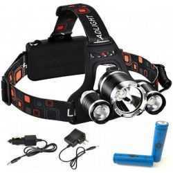 Челник с 3 LED диода фенер за глава 10