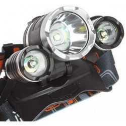 Челник с 3 LED диода фенер за глава 14