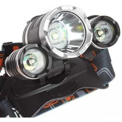 Челник с 3 LED диода фенер за глава 8