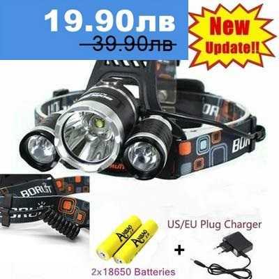 Челник с 3 LED диода фенер за глава 3