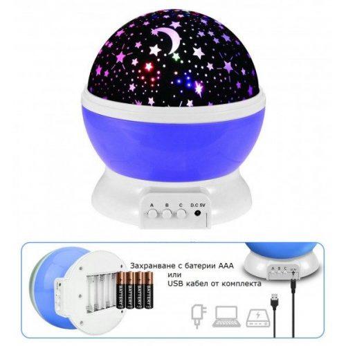 Детска нощна лампа проектор звездно небе на едро и дребно 7