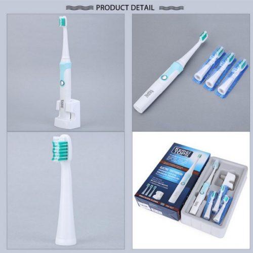 Електрическа четка за зъби с 4 глави Kemei Tops на едро и дребно 8