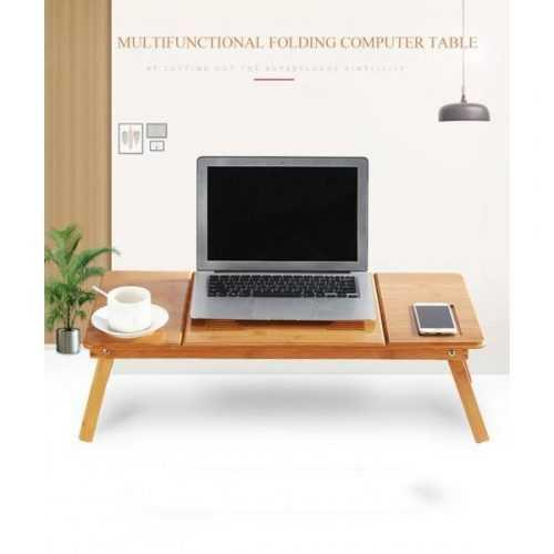 Голяма бамбукова маса за лаптоп на едро и дребно 4