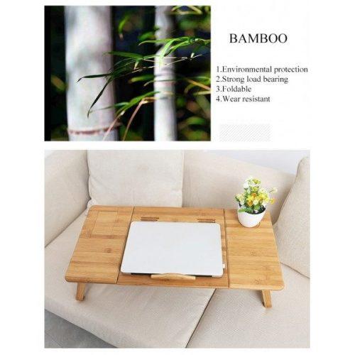 Голяма бамбукова маса за лаптоп на едро и дребно 6