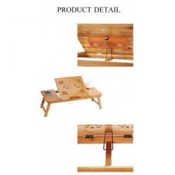 Голяма бамбукова маса за лаптоп на едро и дребно 16