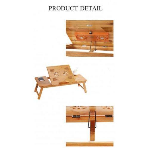 Голяма бамбукова маса за лаптоп на едро и дребно 8