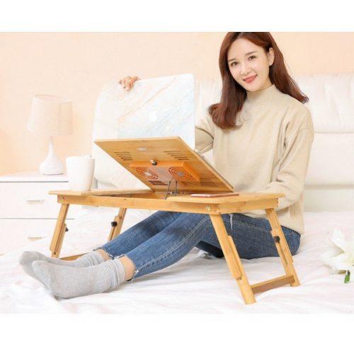 Голяма бамбукова маса за лаптоп на едро и дребно 10