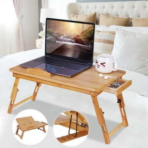 Малка бамбукова маса за лаптоп на едро и дребно 3