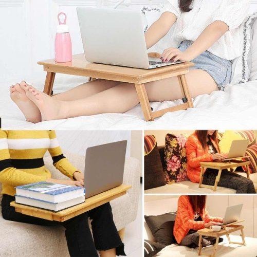 Малка бамбукова маса за лаптоп на едро и дребно 12