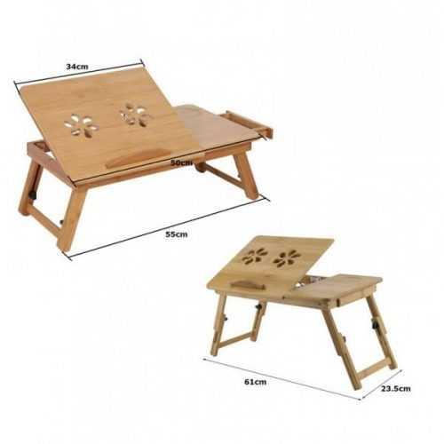 Малка бамбукова маса за лаптоп на едро и дребно 13
