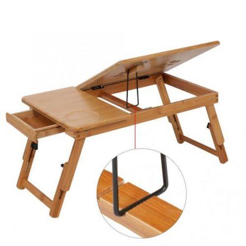 Малка бамбукова маса за лаптоп на едро и дребно 4