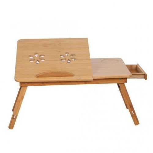Малка бамбукова маса за лаптоп на едро и дребно 5