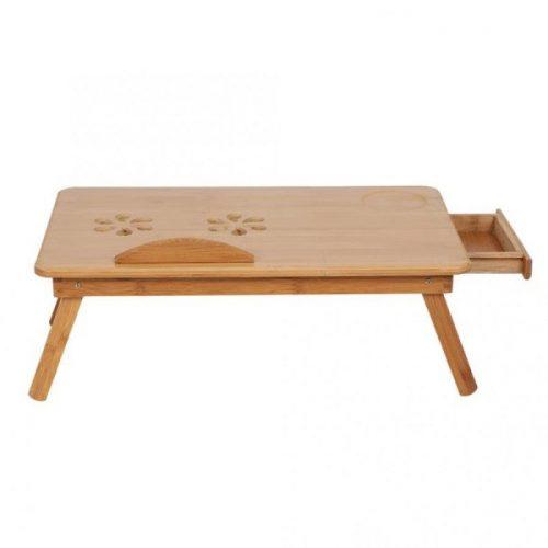 Малка бамбукова маса за лаптоп на едро и дребно 6