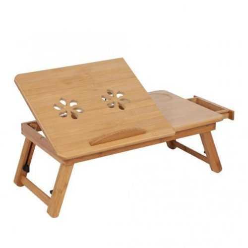 Малка бамбукова маса за лаптоп на едро и дребно 7