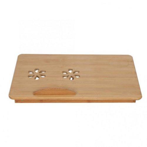 Малка бамбукова маса за лаптоп на едро и дребно 8