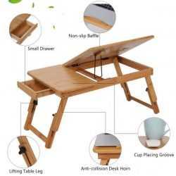 Малка бамбукова маса за лаптоп на едро и дребно 19