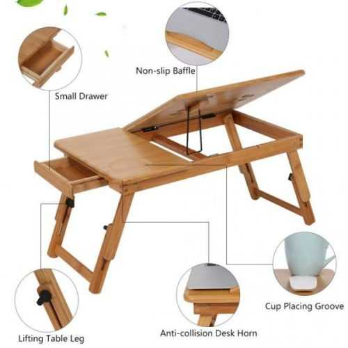 Малка бамбукова маса за лаптоп на едро и дребно 9