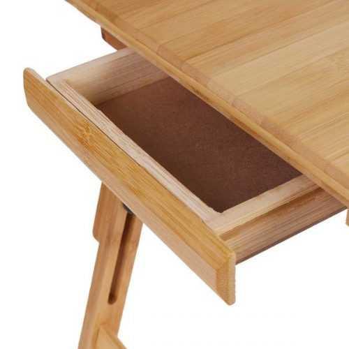 Малка бамбукова маса за лаптоп на едро и дребно 10