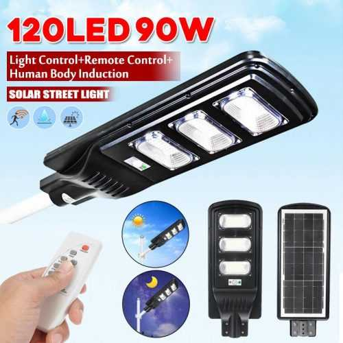 LED соларна улична лампа 90W на едро и дребно 4