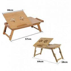 Средна бамбукова маса за лаптоп на едро и дребно 13
