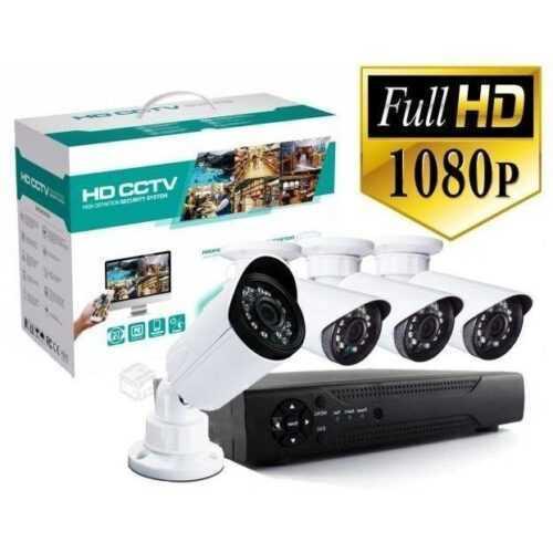 Комплект 4 камери FULL HD AHD + DVR на едро и дребно 3