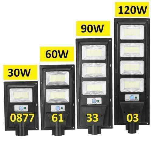 Соларна улична LED 30/60/90/120W лампа със сензор движение 3