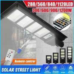 Соларна улична LED 30/60/90/120W лампа със сензор движение 10