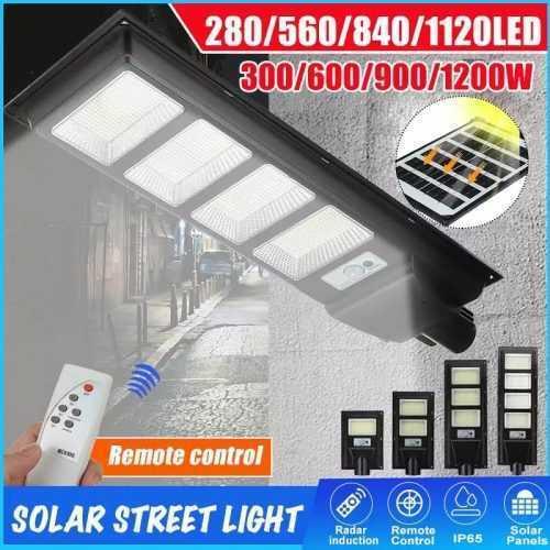 Соларна улична LED 30/60/90/120W лампа със сензор движение 4
