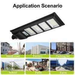 Соларна улична LED 30/60/90/120W лампа със сензор движение 12