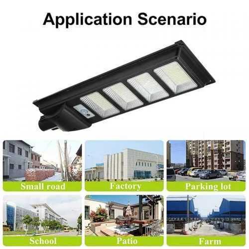 Соларна улична LED 30/60/90/120W лампа със сензор движение 6