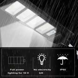 Соларна улична LED 30/60/90/120W лампа със сензор движение 11