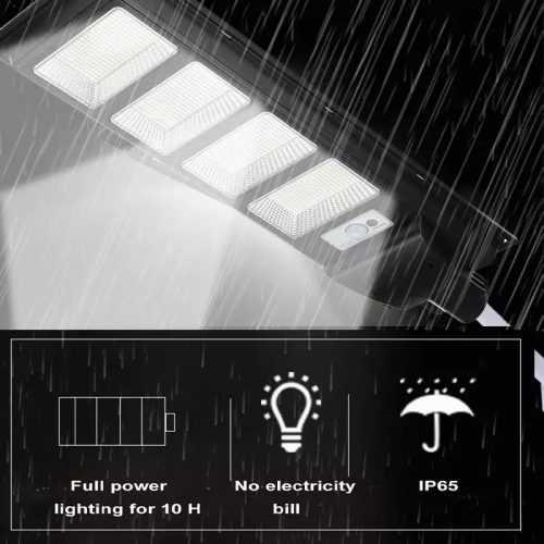 Соларна улична LED 30/60/90/120W лампа със сензор движение 5