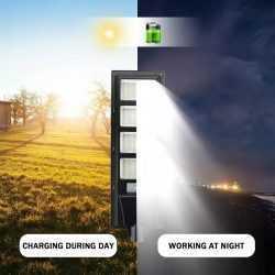 Соларна улична LED 30/60/90/120W лампа със сензор движение 13