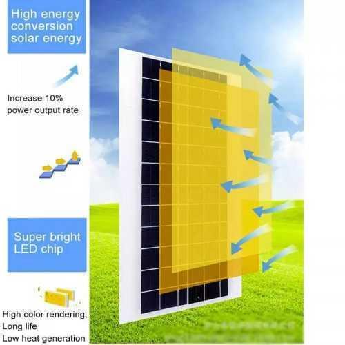 Соларна улична LED 30/60/90/120W лампа със сензор движение 9
