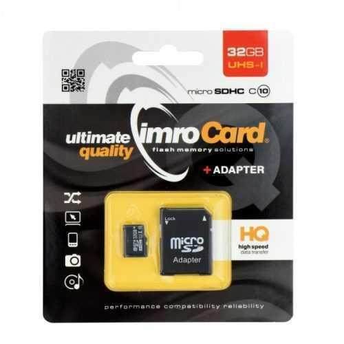 Карта памет 32GB Imro microSD with adapter / Class 10 UHS 3