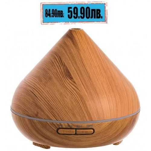 300мл Ултразвуков арома дифузер с етерични масла Цвят Дъб 15х15 см 3