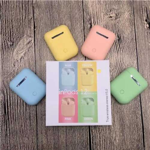 Bluetooth безжични слушалки HF inPods 12 TWS в различни цветове 3