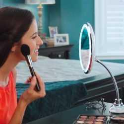 LED Огледало С 10х Увеличение, LED светлина и гъвкаво рамо 5