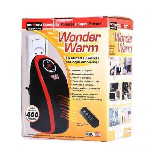 Луксозна Мобилна Икономична Печка WONDER WARM 400W С Дистанционно Управление, Отоплител 5