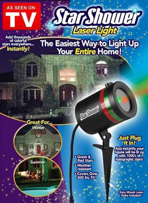 Светлинно Шоу Със прожектор Star Shower Laser Light 4