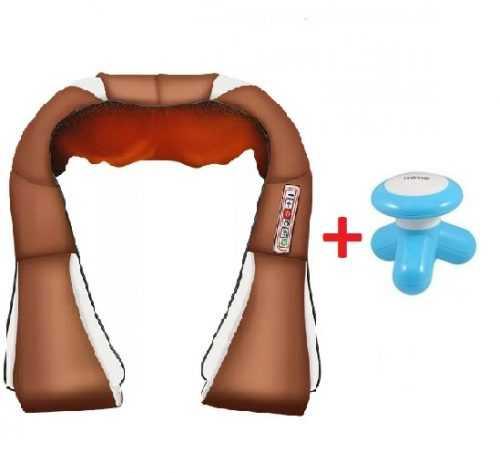 Масажор за врат и гръб с 6 бутона GOLD EDITION + Мини масажор 3