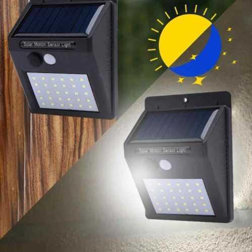 2 броя 20 LED Соларна лампа за стена с датчик за движение 4