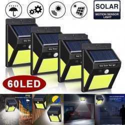 10 броя 60 LED градинска соларна лампа с датчик за движение 7