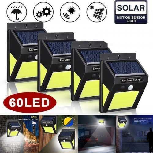 10 броя 60 LED градинска соларна лампа с датчик за движение 5